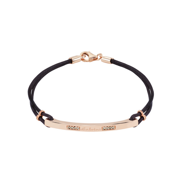 Bracciale in oro rosa 9 KT con diamanti brown (ct. 0,08)