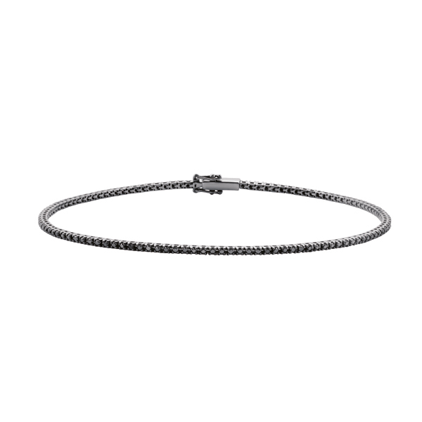Bracciale tennis in oro 18kt con diamanti black 20057214
