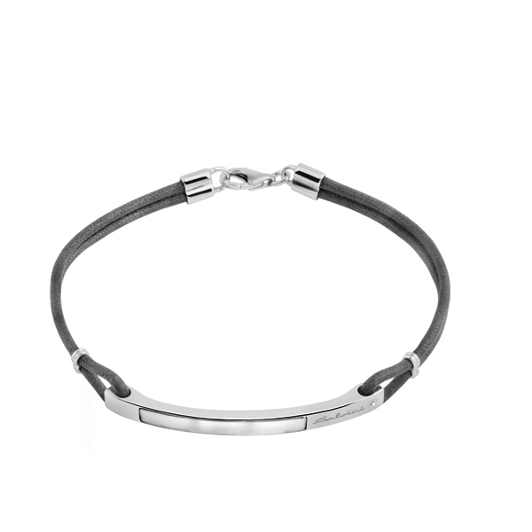 Bracciale in argento con diamante (ct. 0,01) e madreperla