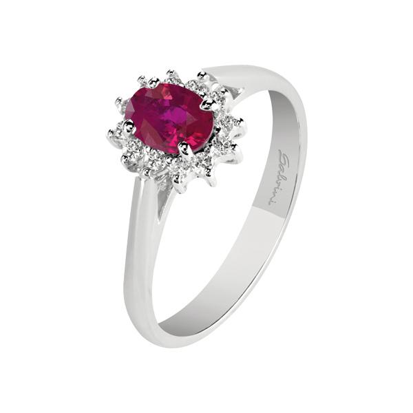 anello con cuore rosso pandora