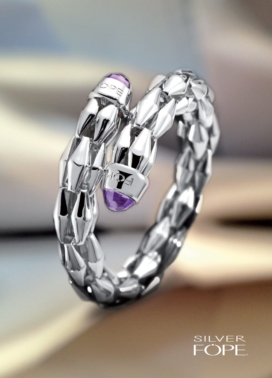 Bracciale in Argento con Ametista Silverfope 331AG-INC AME