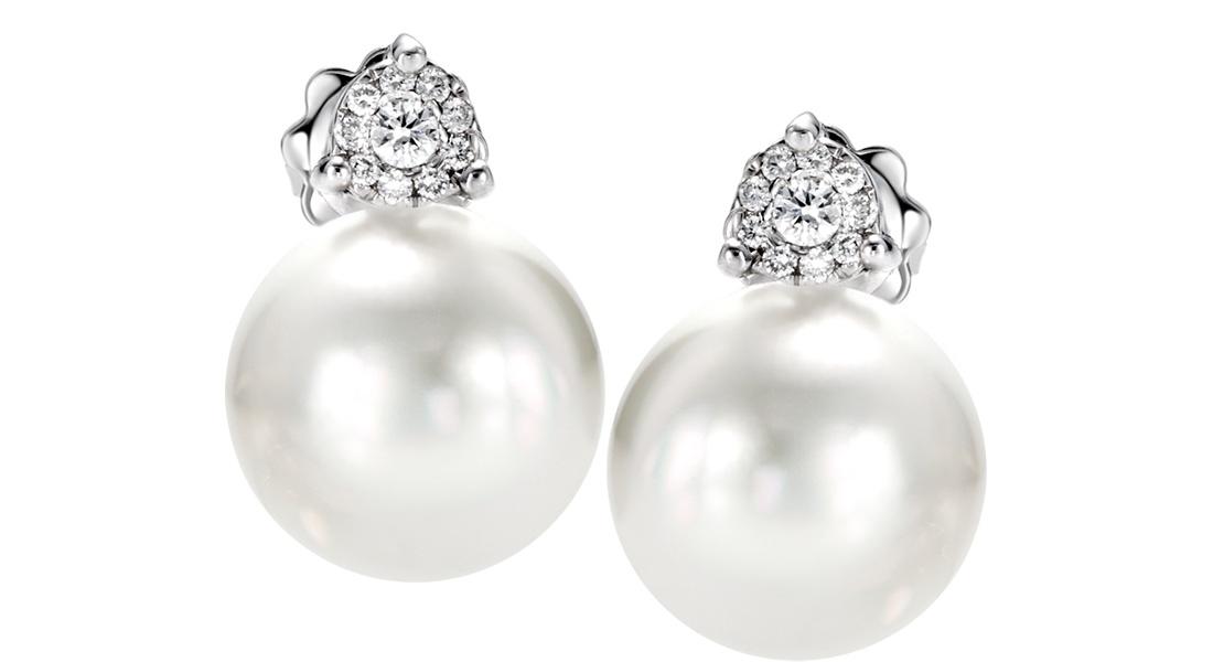 orecchini di perle con brillanti