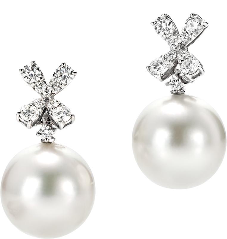 Preferenza Orecchi Trilly Recarlo in oro bianco con brillanti e perle [XD260  KD19