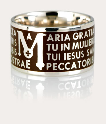 Anello TUUM Color Ave Maria Marrone Ref. TUAMLB90090 ...