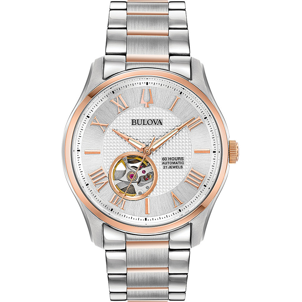 watch only time man Bulova Automatic Wilton 98A213