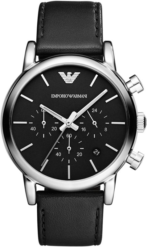 18043bcb213 Cronografo Elegante Uomo Emporio Armani AR1733  AR1733  - 212 Euro ...