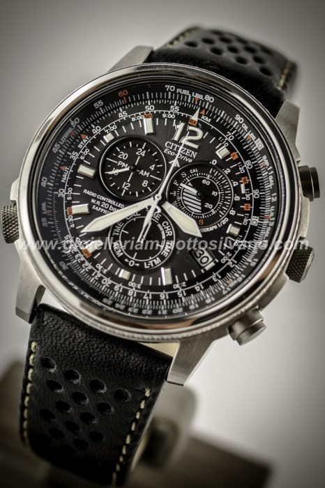 Super carino dca46 70aac Orologio Crono Pilot Citizen Acciaio AS4020-36E Orologi ...