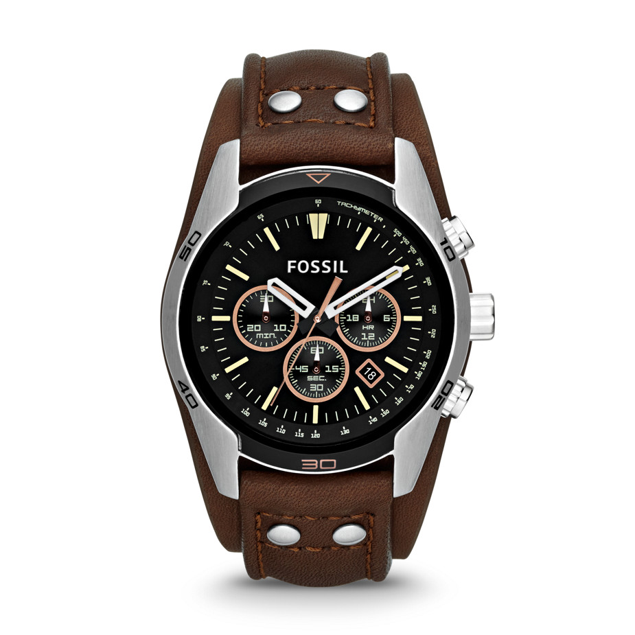 Orologio Coachman Chronograph Leather Watch - Brown # CH2891