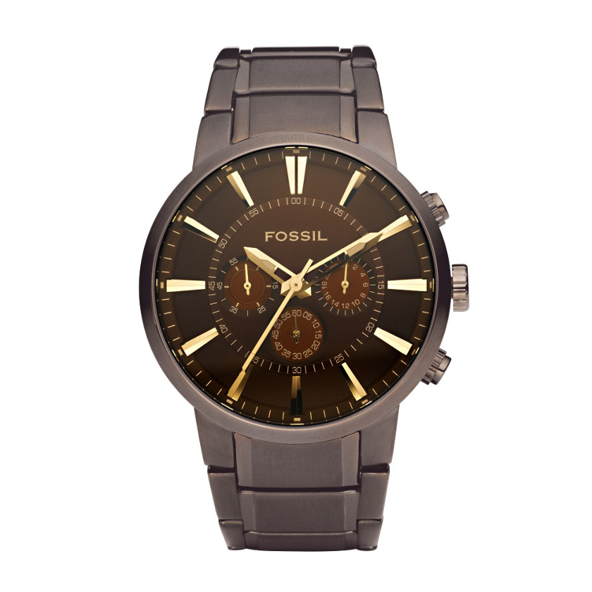 Orologio Fossil Dress Chronograph Brown # FS4357
