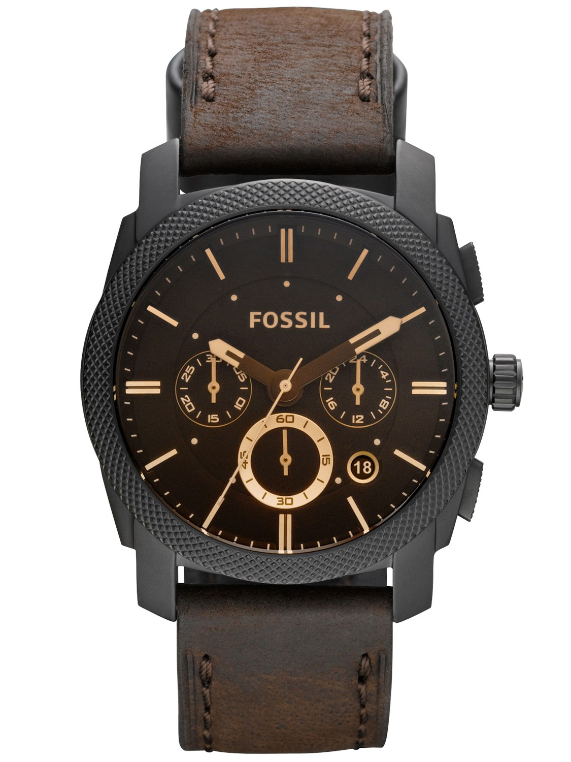 Orologio Fossil Machine Flight Chronograph Brown Dial Men FS4656