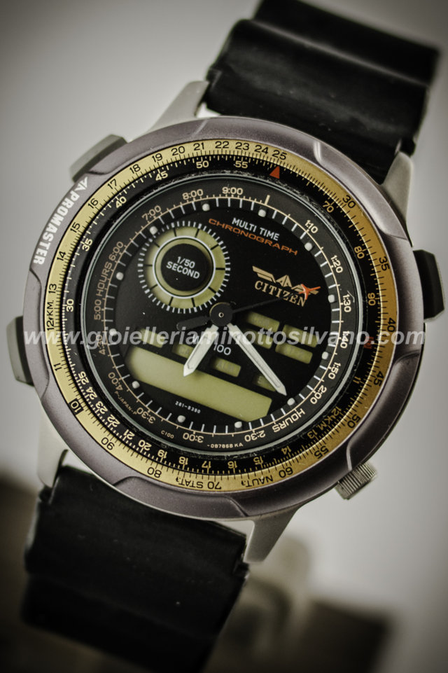 Orologio Citizen Promaster Cronografo Multi Time 40mm JM2004-06E