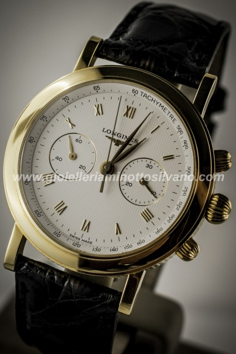 Orologio Longines in oro 18 kt FRANCILLON 38mm ^ L46436112
