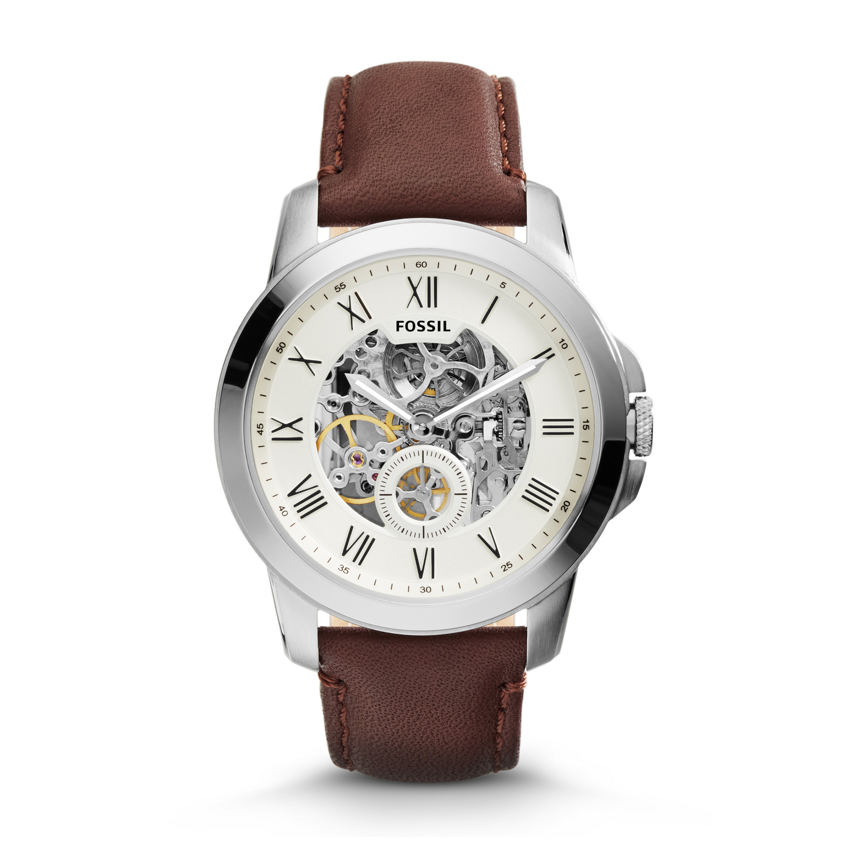 Orologio fossil Grant Automatic Brown ME3052