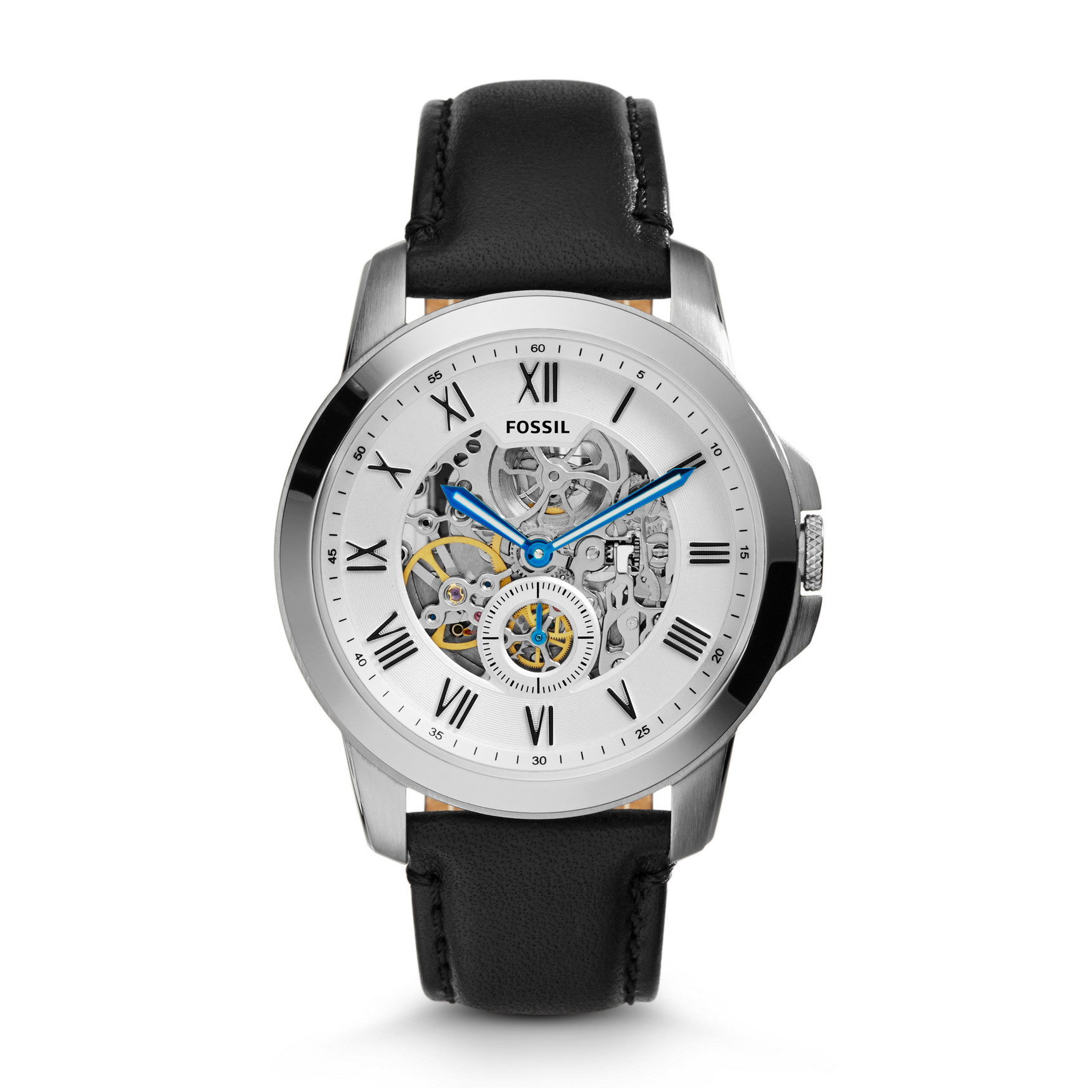 Orologio Fossil Grant Automatic Black Leather ME3053