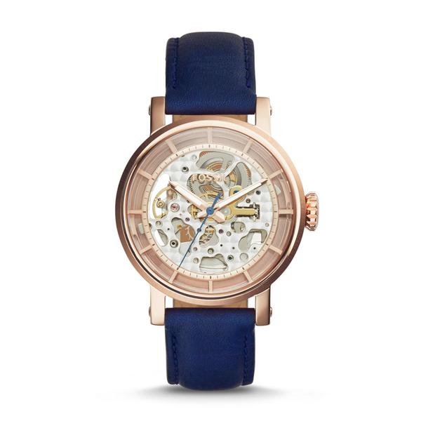 OrologioFOSSIL Original Boyfriend Automatic Navy Leather ME3068