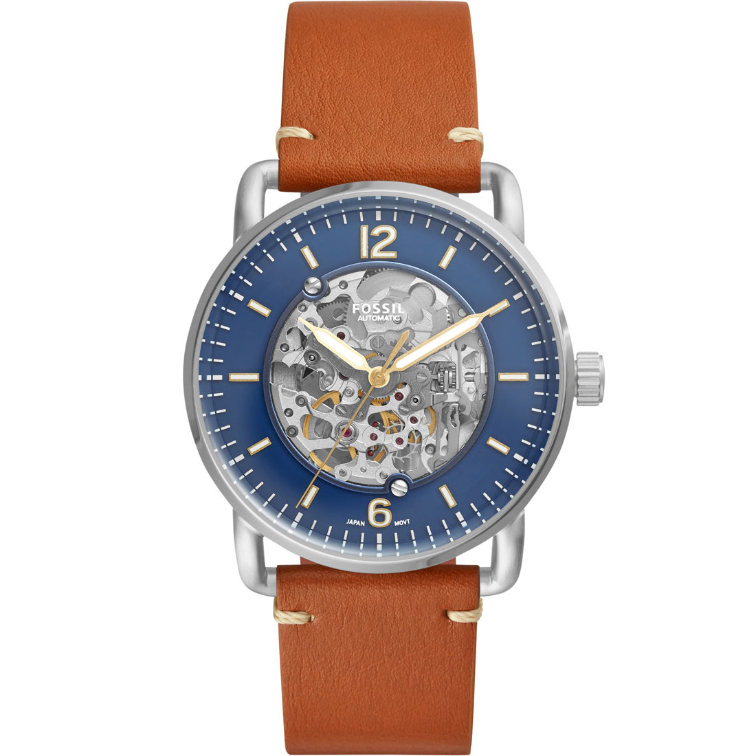 Orologio Fossil Commuter Automatic Brown Luggage Watch ME3159
