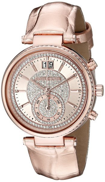 Orologio Michael Kors Sawyer Rose Gold Crystal Pave Dial MK2445