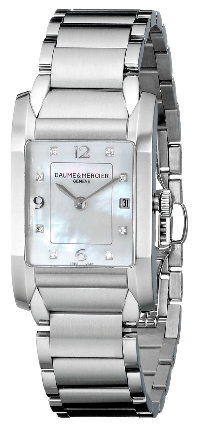 Orologio Donna Baume Mercier Hampton Quarzo 34,5 x 22 mm # 10050