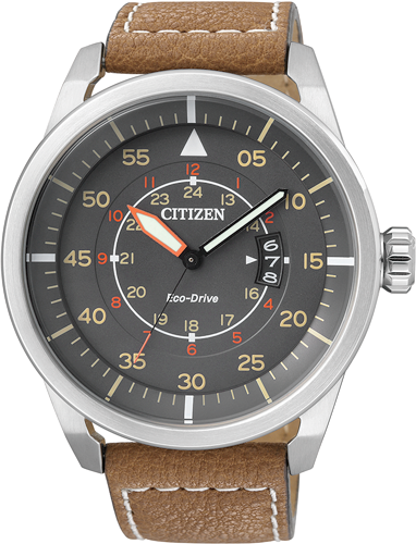 Orologio Citizen Aviator Marrone AW1360-12H
