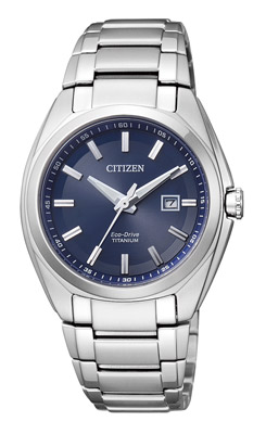 Citizen, Orologio Donna SuperTitanio 221 Blu EW2210-53L