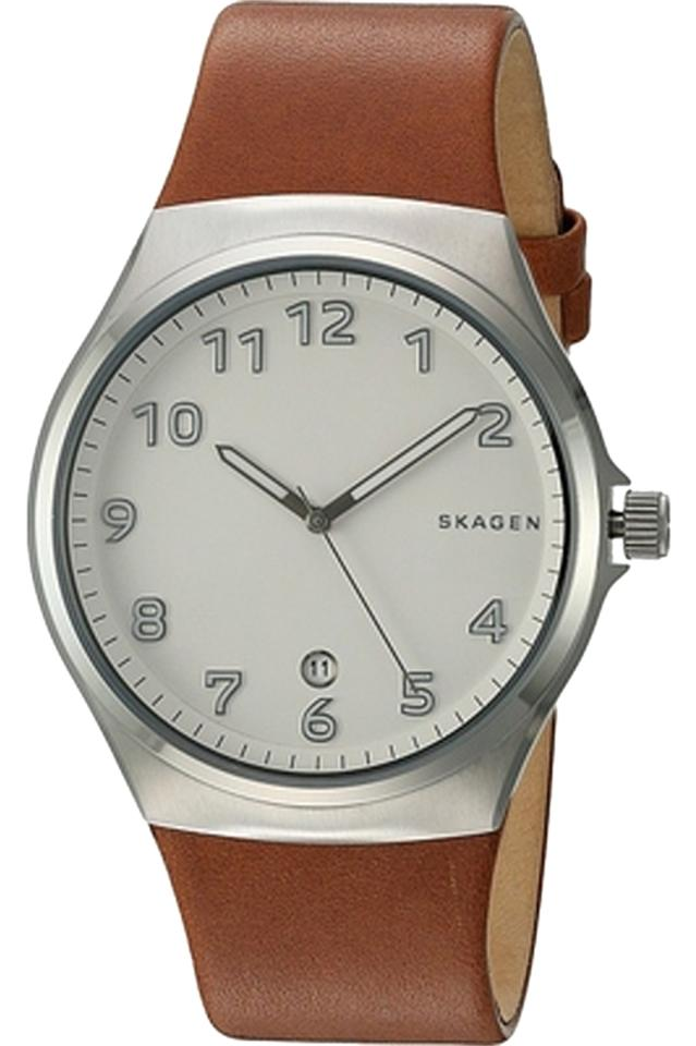 Orologio Skagen Sundby White Dial Brown Leather SKW6269