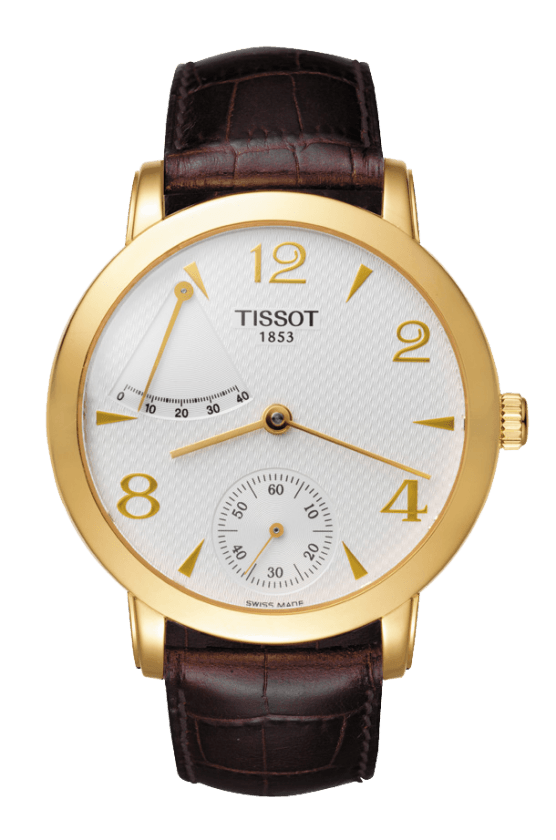 Orologio in oro Tissot SCULPTURE LINE POWER RESERVE T71345934