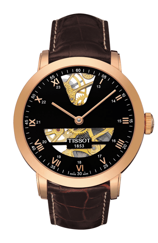 Orologio in oro Tissot SCULPTURE LINE MECHANICAL T71847153