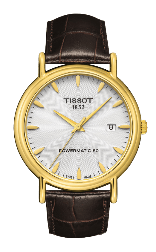 Orologio in oro Tissot CARSON POWERMATIC T9074071603100
