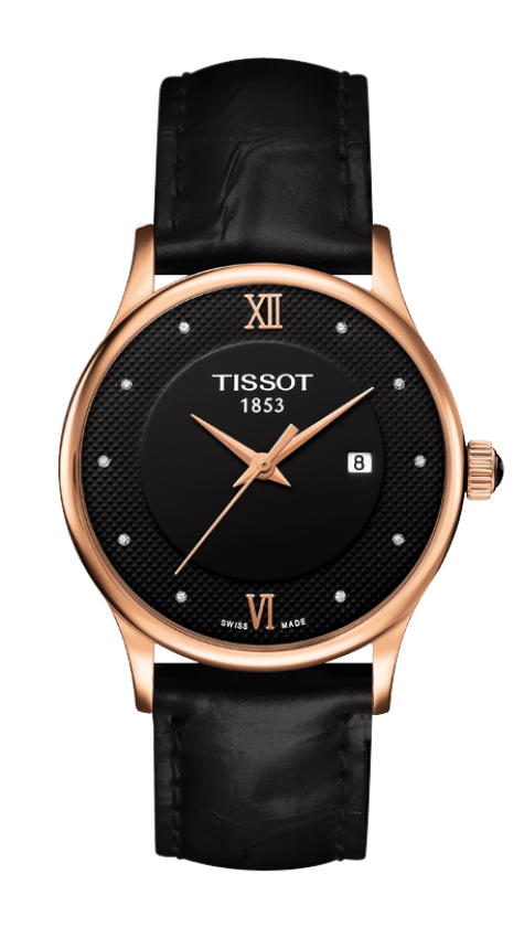Orologio oro Tissot ROSE DREAM QUARTZ LADY GOLD T9142107605600