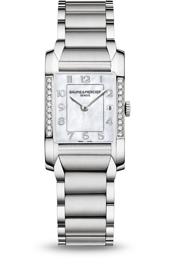 Orologio Donna Baume Mercier Hampton Quarzo 34,5 x 22mm # 10051