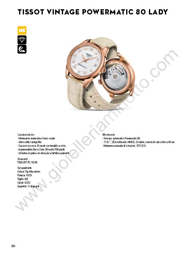 Orologi Tissot Vitange Powermatic 80 Lady 2017